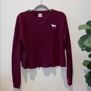 Burgundy PINK long sleeve shirt